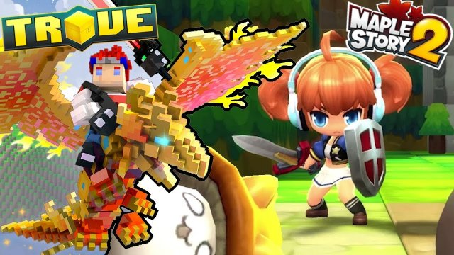 TROVE vs MAPLESTORY 2 - Comparing Trove End-Game to MS2 End-Game.. Free to Play MMORPG