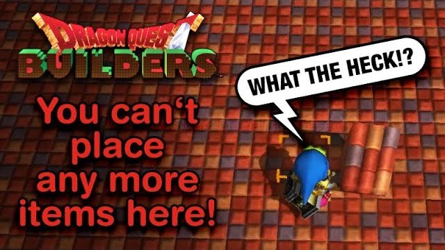 Dragon Quest Builders - How to avoid the item limit