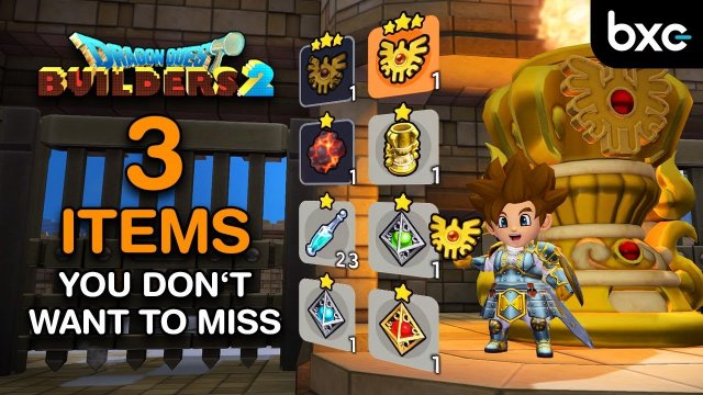 Dragon Quest Builders 2 - ALL 3 missable Items on Moonbrooke Island