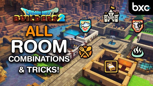 Dragon Quest Builders 2 - ALL Room Combinations | Tips & Tricks for Rooms